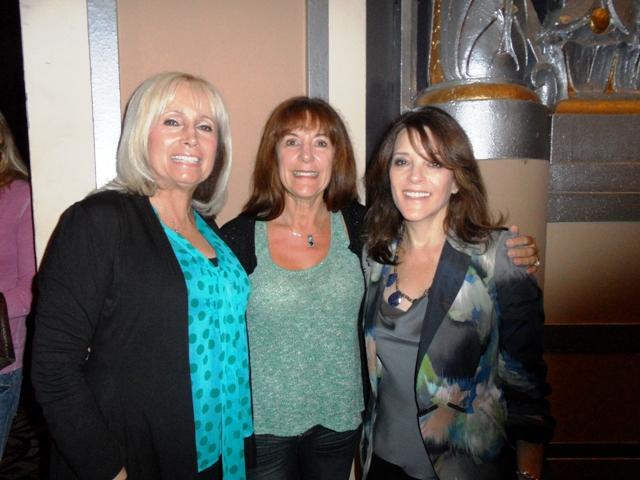 Christine Phillips, Silvia Patrono and Marianne Williamson